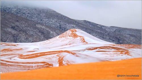 نشرت صورة الصّحراء المثلجة في أكثر من مئة منبر في العالم (كريم بوشطاطة)