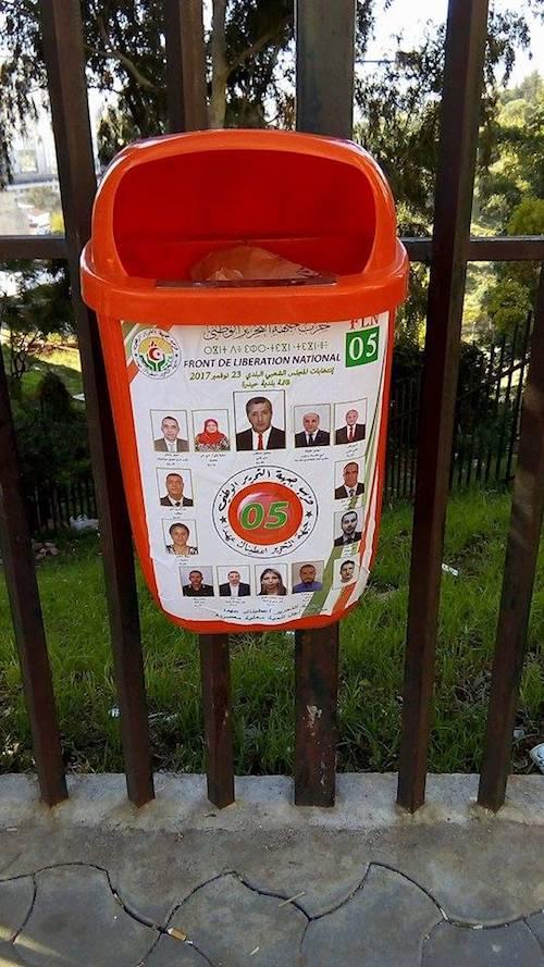 ملصقات حزبية للانتخابات البلدية القادمة في الجزائر (فيسبوك)