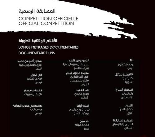 الأفلام الوثائقية الطويلة