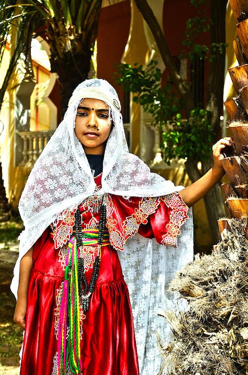 من المراهقات المشاركات في مسابقة الجمال الجزائرية(حمزة بومقواس)