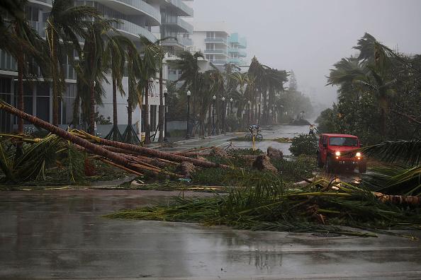 من آثار إعصار إيرما بفلوريدا (جو رايدل/ Getty)