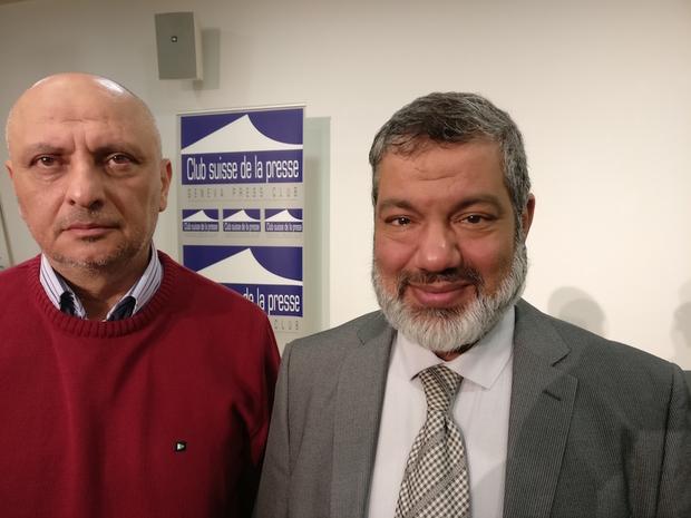 ناجي حمدان (يسار) ومحمود الجيدة، ممن تعرضوا للتعذيب في الإمارات