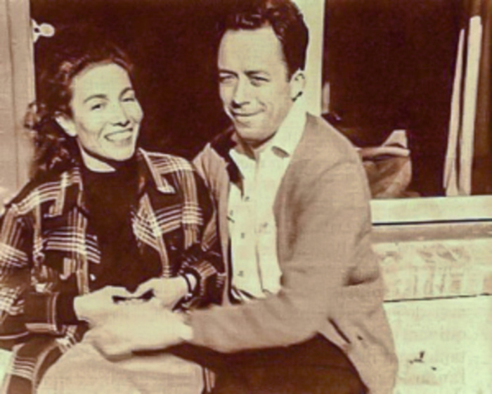 Albert Camus and his first wife Source: Timetoast