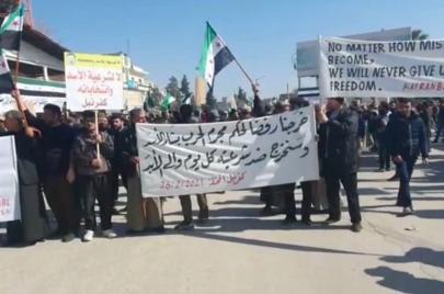 احتجاجات في عدد من المناطق بسوريا تطالب بإسقاط النظام