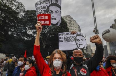 البرازيليون يتظاهرون مجددًا للمطالبة بإقالة الرئيس بولسونارو