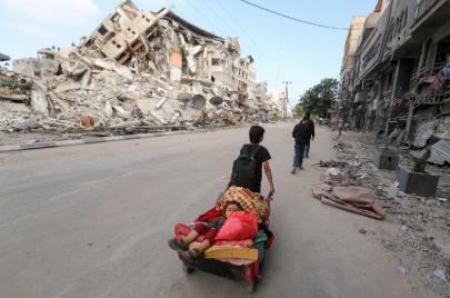 كيف تعاملت إدارة بايدن مع العدوان الإسرائيلي على قطاع غزة؟