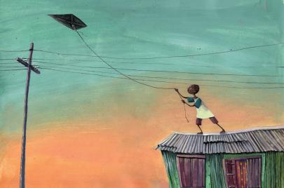 الفنانة ديالا برصلي.. طائرة ورقية لأطفال يصنعون السماء