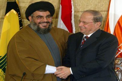 عون يسد الفراغ الرئاسي ونصر الله رئيسًا للبنان