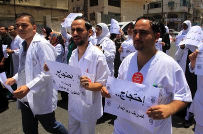 ممرضو غزة في دائرة المجهول