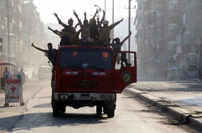 حلب.. الشرقية تلتقي بالغربية