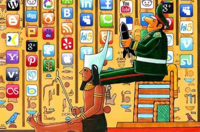 10 كاريكاتيرات من العالم عن السوشال ميديا